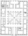 План первого этажа палаццо Фернезе. Рим. 1513г.